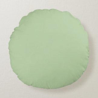 Verde salvia cojín redondo