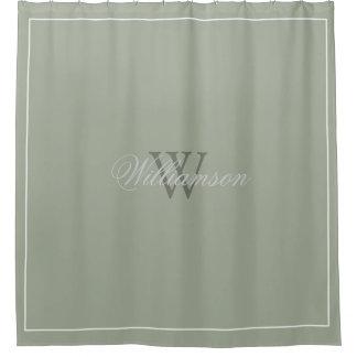 Verde salvia del desierto del estilo del hotel con cortina de baño