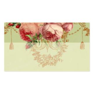 Verde salvia elegante de Blenheim Rose - coloque l Tarjeta De Negocio
