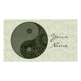 Verde salvia modelada de Yin Yang Tarjetas De Visita
