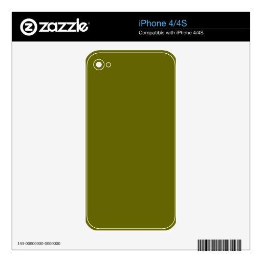 Verde salvia skin para el iPhone 4S