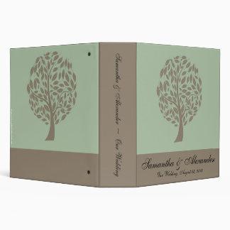 """Verde salvia y árbol estilizado suave de Brown Eco Carpeta 2"""""""