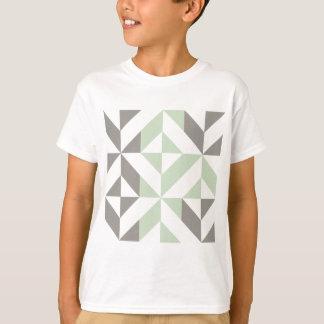 Verde salvia y modelo geométrico del cubo de Deco Polera