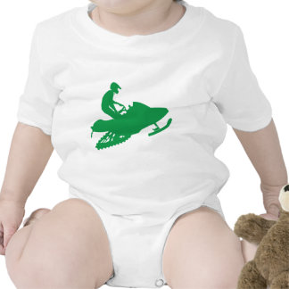 Verde-Snowmobiler Traje De Bebé