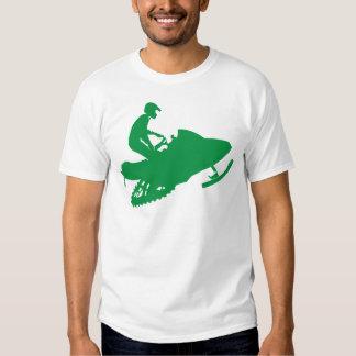 Verde-Snowmobiler Playeras