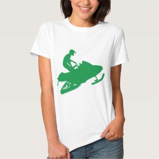 Verde-Snowmobiler Remeras