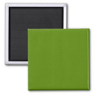 Verde sólido del aguacate imán cuadrado