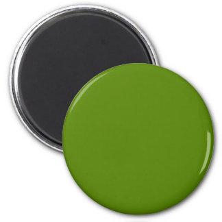 Verde sólido del aguacate imán redondo 5 cm