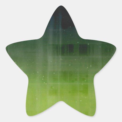 Verde Starfield del tono de la joya Pegatina En Forma De Estrella
