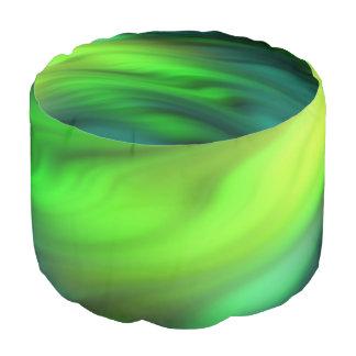 Verde suave de las ondas + sus ideas puf redondo