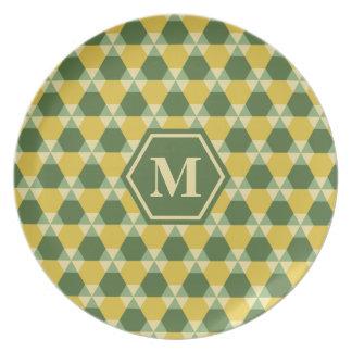 Verde superior del árbol/placa de la melamina del platos para fiestas
