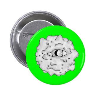 Verde sustancioso del botón del globo del ojo pins