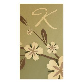 verde sutil de la belleza el | del flor del oro tarjetas de visita