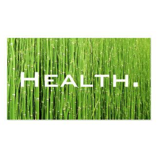 Verde Tarjeta-Natural del negocio del profesional  Tarjetas De Visita