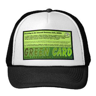 ¡Verde-Tarjeta por favor! Gorras De Camionero