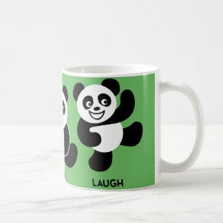 Verde - taza de café feliz de 3 pandas