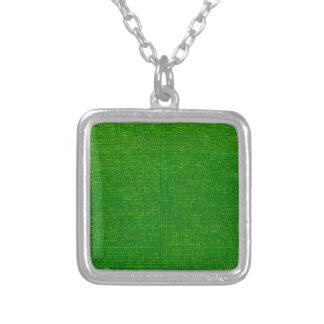 verde tejido de la estructura collares
