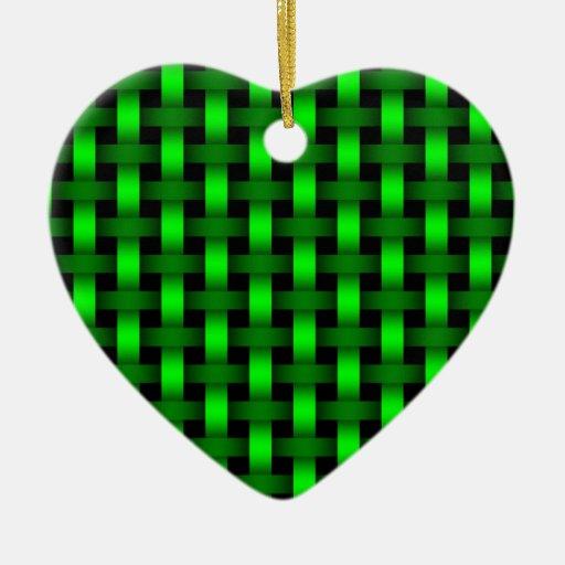 Verde tejido ornamente de reyes