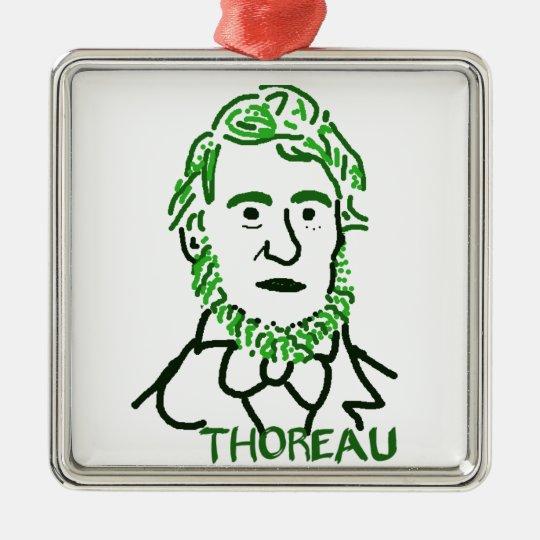 verde Thoreau-LY Adorno Navideño Cuadrado De Metal