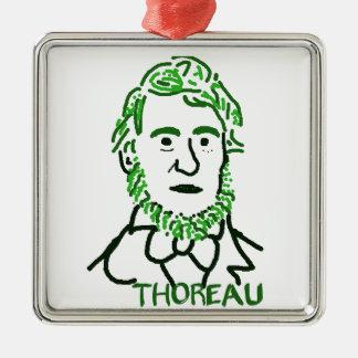 verde Thoreau-LY Adorno Cuadrado Plateado