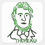 verde Thoreau-LY Pegatina Cuadrada