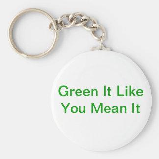 Verde tiene gusto de usted malo él llavero redondo tipo pin