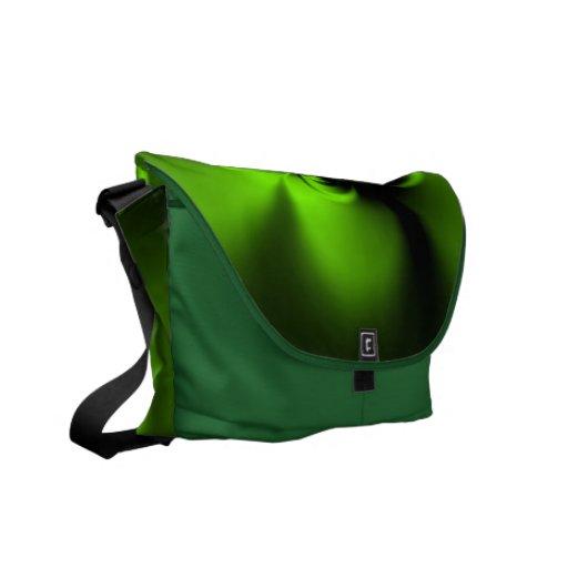 Verde torcido bolsa messenger