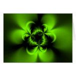 Verde torcido tarjeta de felicitación