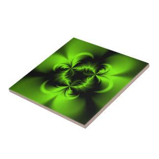 Verde torcido tejas