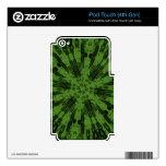 Verde tóxico calcomanías para iPod touch 4G