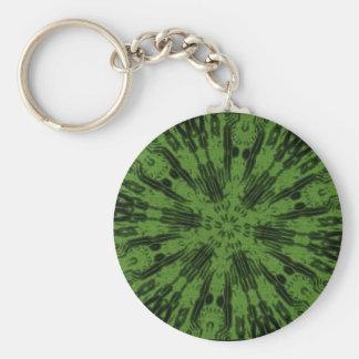 Verde tóxico llavero redondo tipo pin