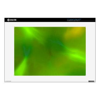 Verde translúcido calcomanía para portátil