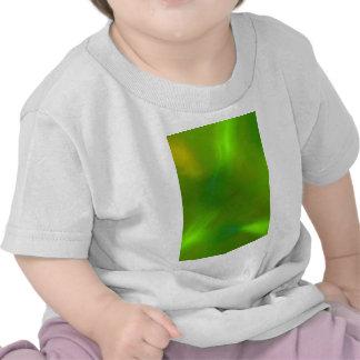 Verde translúcido camisetas