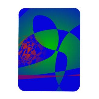Verde translúcido en fondo azul imán de vinilo
