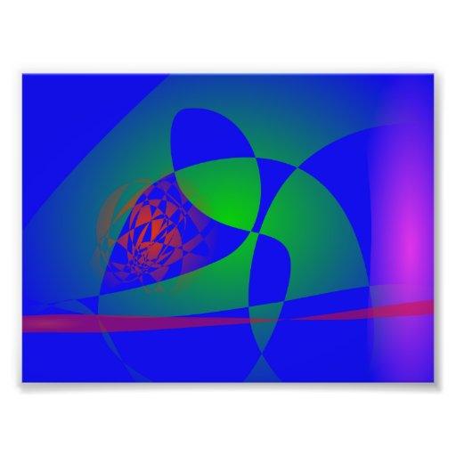 Verde translúcido en fondo azul foto