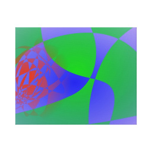 Verde translúcido en fondo de la lavanda impresion de lienzo