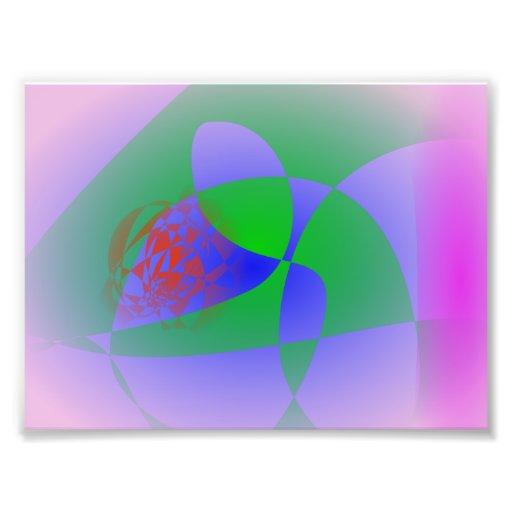 Verde translúcido en fondo de la lavanda arte fotográfico