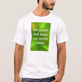 Verde translúcido playera