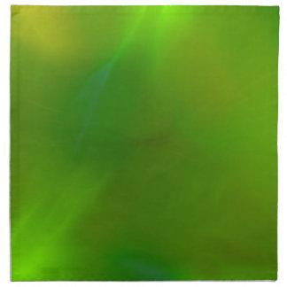 Verde translúcido servilleta imprimida