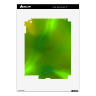 Verde translúcido skins para iPad 2