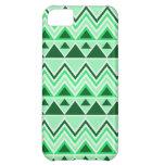 Verde tribal azteca de los triángulos de las monta