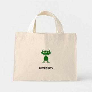 Verde triple de la diversidad del ojo bolsas