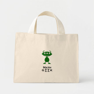 Verde triple del friki de la matemáticas del ojo bolsas de mano