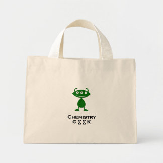 Verde triple del friki de la química del ojo bolsas
