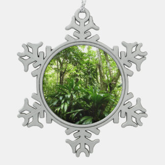 Verde tropical de la selva tropical I dominicano Adornos