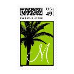 Verde tropical del franqueo del boda de la palmera