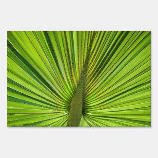Verde tropical letrero