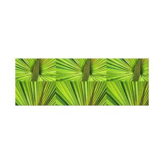 Verde tropical lona estirada galerías