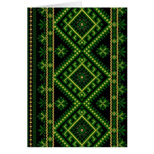 Verde ucraniano de la impresión de la tarjeta de f