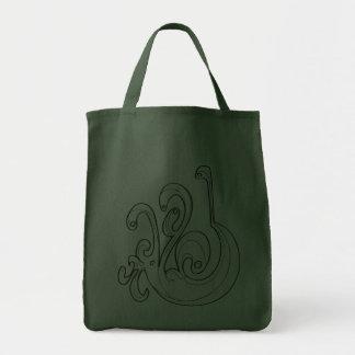 """Verde """"un"""" bolso de compras Curvy Bolsas"""